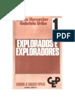 Cadernos de formação popular  1 -   Explorados e Exploradores