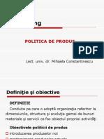 FABBV - Curs 8 (Politica de Produs)