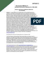 Governance Matters v 1996-2005