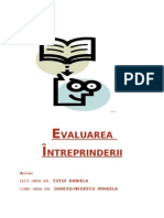 Curs Evaluarea Intreprinderii Id III