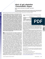 Biomechanical analysis of gait adaptation in the nematode Caenorhabditis elegans