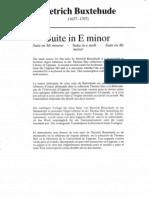 Suite in E Minor Dietrich Buxtehude