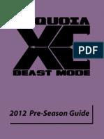 2012 Sequoia XC Pre-Season Guide