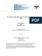 News Shocks and the slope of the term structure of interest rates