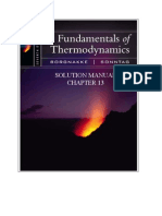 Fundamentals of Thermodynamics solutions ch13