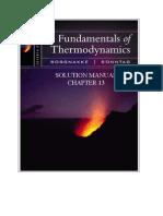 Fundamentals of Thermodynamics solutions ch13
