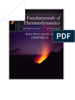 Fundamentals of Thermodynamics solutions ch12