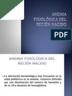 Anemia fisiológica del recién nacido