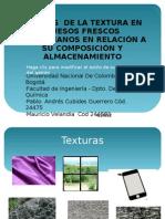 ANÁLISIS  DE LA TEXTURA EN  QUESOS FRESCOS COLOMBIANOS