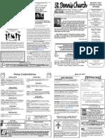 April 29 Bulletin