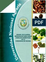 Manual de Plantas Medicinales Para Curar Animales Domes Ticos