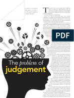 The problem of judgement