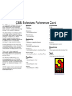 Css Selector Quick Reference
