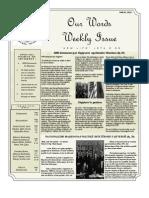 Newsletter Volume 4 Issue 18