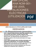 NORMA Oficial Mexicana NOM-001-SEDE-2005, Instalaciones Eléctricas