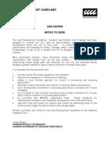 GCCC - Land Development Guidelines