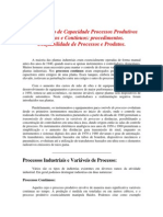 Processos Produtivos Discretos e Contínuos
