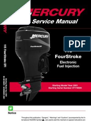 Mercury 115 Service Manual   Screw   Vehicle Technology