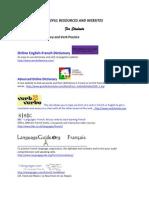 Useful Resources & Websites