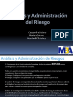 Análisis y Administracion del Riesgo