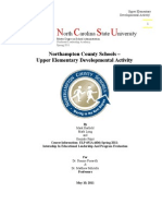 Final Report on NCS Upper Elementary Developmental Activity