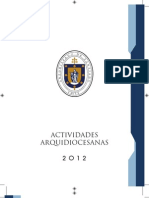 Calendario 2012 - Actividades Arquidiocesanas