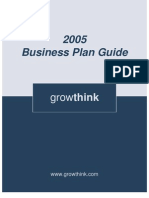 Business Plan Guide 2005
