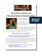 Government publications for the Gilmore Girls