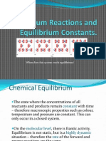 Equilibrium Reactions and Equilibrium Constants(1)