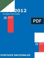 PSU 2012 - Puntajes Nacionales Chilenos