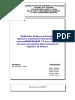 Estudio Movimiento y Tiempo Mejora Procesos Hidrobombas c A