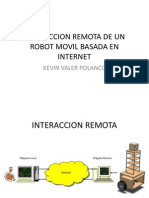Interaccion Remota de Un Robot Movil Basada En