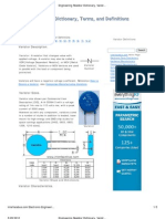 Engineering Resistor Dictionary, Varistor Definition