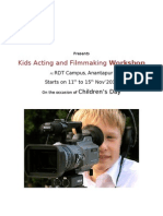 Kids Acting & Film Making Workshop
