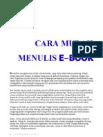 Cara Mudah Menulis E-book