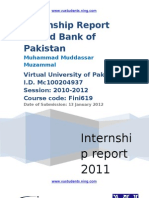 Internship Report on United Bank of Pakistan 2011