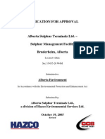 Sulphur Handling Terminal Alberta Environment 28102005