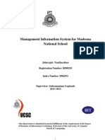 0902551 Management Information System for Madeena National School