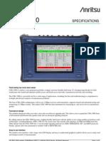 Anritsu CMA3000 Field Tester Data Sheet