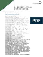 SAP-Transactions and Corresponding ABAP Programs