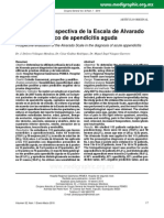 Apendicitis - Criterios de Alvarado