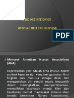 The Definition of Mental Health Nursing