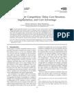 Maxim Afanasyev(2010)Service Provider Competition- Delay Cost Structure-Segmentation and Cost Advantage