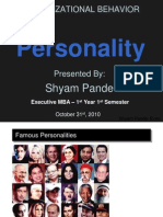 Presentation on Personality