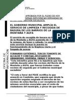 LIMPIEZA PAU MONTAÑA Y AGFA