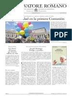 L´OSSERVATORE ROMANO. 29 Abril 2012