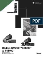 Motorola Radius CM300 Installation Guide