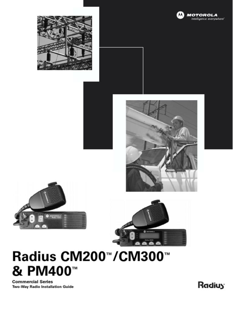 motorola radius cm300 installation guide ignition system distributor rh scribd com Motorola CM300 Programming Software motorola cm200 wiring diagram
