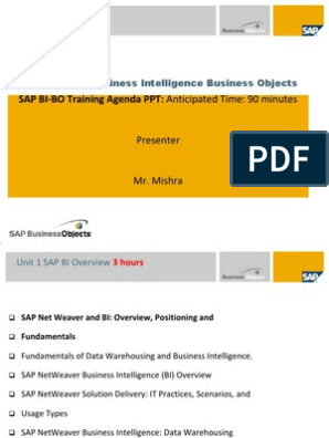 BI-BO ppt | Business Intelligence | Data Warehouse