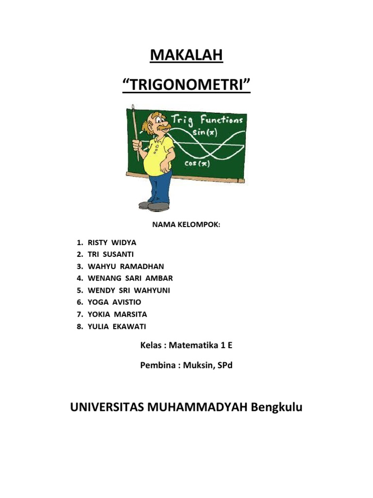 41532214 Makalah Trigonometri